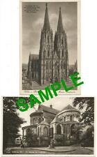 2 POSTCARDS KOLN A RH COLOGNE GERMANY DOM WESTSEITE ST MARIA IM CAPITOL 1930