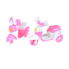 Pink Motorcycle Can Be Sit By Dolls For Barbie Children's Toy Cars HICA