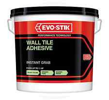 Evo-Stik Instant Grab Wall Tile Adhesive Ready Mixed Ceramic Mosaic Grout 2.5L