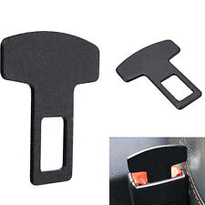 Car Safety Seat Belt Buckle Alarm Stopper Eliminator Clip Black Car Accessories