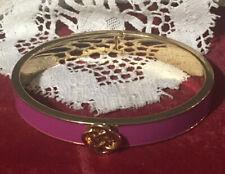 Hinged Lindsay Bangle Cuff Bracelet Stella & Dot Fuchsia Enamel