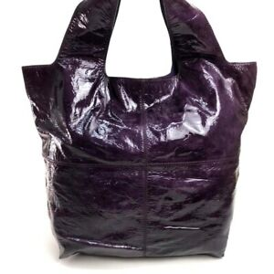 GIVENCHY Shoulder Bag Tote Bag Purple (dark violet) Patent Leather