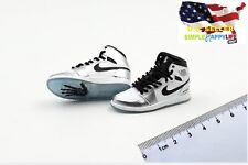 1/6 men Silver Sneakers shoes AJ HOLLOW basketball for hot toys phicen ❶USA❶