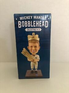 RARE Mickey Mantle New York Yankees 2016 Bobblehead #2 Triple Crown NEW IN BOX