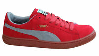Puma Re-Suede Mens Trainers Lace Up Low Shoes Red Grey Leather 353486 05 B82D