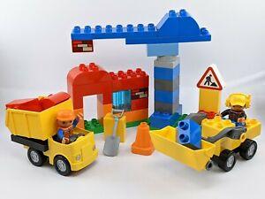 LEGO DUPLO My First Construction Set 10518 Bulldozer Crane Dump Truck Workers