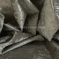 10 Metres of Luxury Furnishing Quality Glamour Velvet Upholstery Fabric Silver
