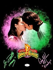 Jason David Frank / Amy Jo Johnson Signed Power Rangers Kiss 11x14 Photo JSA COA