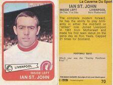 070 IAN ST JOHN LIVERPOOL.FC CARD ENGLAND SCOTLAND PREMIER LEAGUE 1969 AB&C