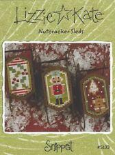 Christmas Lizzie Kate Nutcracker Sleds Cross Stitch Charts + Beads Buttons Charm