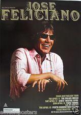 JOSE FELICIANO 2008 AUSTRALIA CONCERT TOUR POSTER - Latin Music Legend