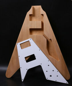 New electric Guitar Body Flying V style Set in Heel width Pickguard HH pickup