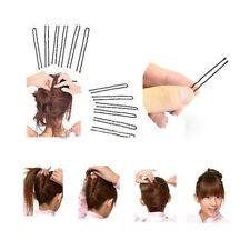 60X Clips noirs masqués pour beauté cheveux Pins poignées Barrette Invisible