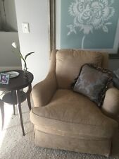 Heckman Beige Swivel and Rocking Chair