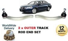 FOR HONDA ACCORD 2003-2008  NEW 2x OUTER LEFT & RIGHT TRACK TIE RACK ROD END