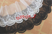Q121 Embroidered Net Cotton Lace Edge Trim Fabric Tulle Mesh Craft Sewing DIY