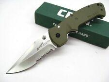 Couteau Crkt Crawford Kasper Lame Acier 8Cr14MoV Manche Zytel Green CR6783SOD