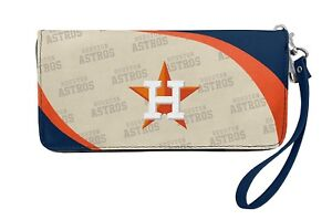 MLB Huston Astros Curve Zipper Organizer Women's Wallet