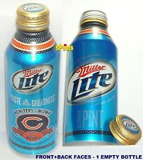 2010 CHICAGO BEARS MONSTERS NFL FOOTBALL MILLER LITE ALUMINUM BOTTLE BEER CAN IL