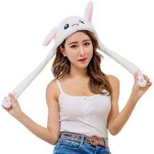 Cool new Girls Kids Children`s flappy ear WHITE bunny MOVING EAR Animal hat