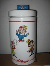 Nice preowned KELLOGG COOKIE JAR Rice Krispies Treats snap crackle pop Kellogg's