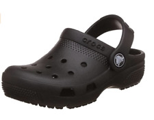 NEW Crocs Kids Coast Clogs, Junior's Size C10 Black Boys and Girls Water Shoes