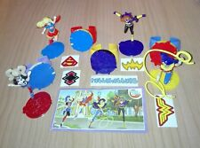 DC SUPER HERO GIRLS (MAXI) COMPLETE SET WITH ALL PAPERS KINDER SURPRISE 2017