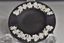 Vintage Wedgwood Black Jasperware Grapevine/Leaf Design Small 2 Slot Ashtray