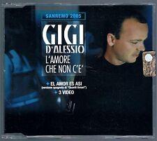 GIGI D'ALESSIO L'AMORE CHE NON C'E'  CD SINGOLO cds SIGILLATO!!!