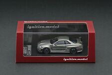 Ignition Model 1/64 Nismo Omori Factory CRS Dark Grey Metallic IG1880 R34 GT-R