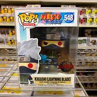 "Funko Pop Naruto : Kakashi (Lightning Blade) #548 Figure w/0.5mm Case ""MINT"""