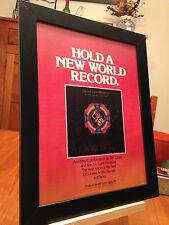 "FRAMED ELECTRIC LIGHT ORCHESTRA (ELO) ""A NEW WORLD RECORD"" LP ALBUM CD PROMO AD"