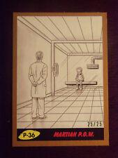 Topps MARS ATTACKS: The Revenge BRONZE Border card #P-36 Martian P.O.W. #25/25
