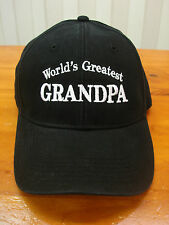 World's Greatest Grandpa embroidered Hat Father's Day gift adjustable cap