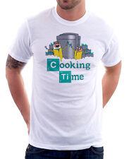 Adventure Cooking Time Finn Jake Breaking Bad Walter white cotton t-shirt 09847