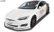 RDX Spoilerlippe Tesla Model S AB Bj. 2016 Front Ansatz Schwert Lippe Spoiler
