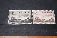 AUSTRALIA 1955 COBB AND CO COACHES SET OF 2 VERY FINE M/N/H