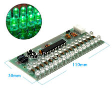 Dual Channel MCU Adjustable Display Pattern LED VU Meter Level Indicator 16 LED