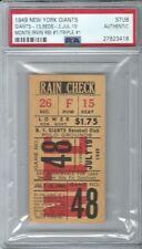 1949 MONTE IRVIN FIRST CAREER RBI BASEBALL TICKET NEW YORK GIANTS ROOKIE PSA