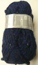 5 pelotes  grosse laine - couleur marine tweed 31 - FABRIQUE EN FRANCE-
