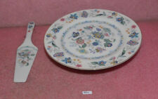 Andrea by Sadek Cake Plate with Server Fine Porcelein China.