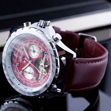 Luxury Tourbillon Automatic Mechanical Wrist Watch Men Leather Band Calendar Uhr