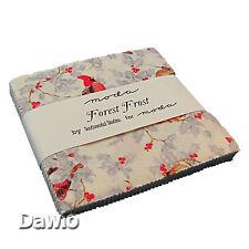 """Charm Pack """"Forest Frost"""" Weihnachten Patchwork Glitzer Stoff 42 Scraps à 12,5cm"""