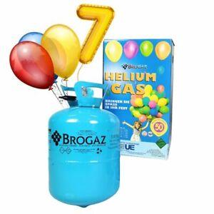 Helium Gas Ballongas Einweg für ca. 30 - 50 Luftballons Zubehör (Ballons + Band)