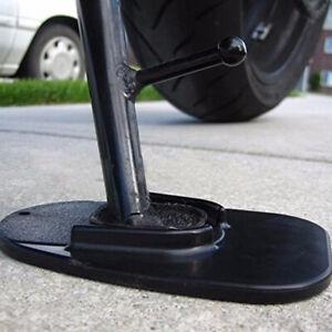 Black Motorcycle Kickstand Side Stand Plate Pad Base Fit For Kawasaki Protect