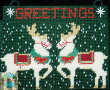 Plastic Canvas Kit Design Works Christmas Greeting Card Holder #DW1186 OOP SALE!