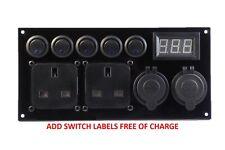 Campervan Camper Switch Panel 12V/240V USB Battery Monitor Split Charger