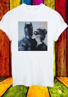 Catwoman Licking Batman Sexy Superheros Men Women Unisex T-shirt 380