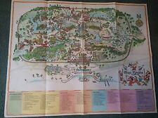 Rare Original 1974?  Walt Disney World-Magic Kingdom Park Guide Map PLUS-XTRAS!