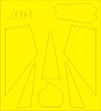 EDUARD JX141 Masking Sheet for Trumpeter® Kit F-117 in 1:32